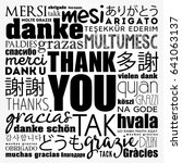 thank you word cloud in...   Shutterstock .eps vector #641063137