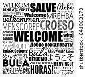 welcome word cloud in different ... | Shutterstock .eps vector #641063173