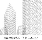 architecture 3d | Shutterstock .eps vector #641065327