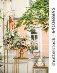 wedding floral decoration.... | Shutterstock . vector #641068693