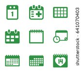 appointment icons set. set of 9 ... | Shutterstock .eps vector #641070403