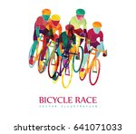 cycling race colorful... | Shutterstock .eps vector #641071033
