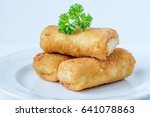 indonesian risoles | Shutterstock . vector #641078863