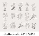 pyrotechnic line icons.... | Shutterstock . vector #641079313