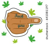 middle finger isolated and... | Shutterstock .eps vector #641081197