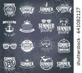 summer typography design... | Shutterstock .eps vector #641082127