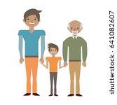 family elder son | Shutterstock .eps vector #641082607