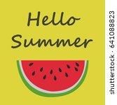 watermelon | Shutterstock .eps vector #641088823