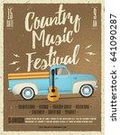 country music festival flyer.... | Shutterstock .eps vector #641090287
