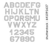 vector linear font. alphabet... | Shutterstock .eps vector #641091637