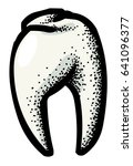 cartoon image of tooth icon....
