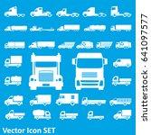 truck icon | Shutterstock .eps vector #641097577