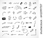 hand drawn arrows  vector set | Shutterstock .eps vector #641099707