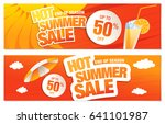 set of two summer sale banners | Shutterstock .eps vector #641101987