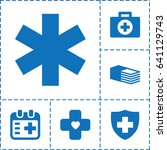 emergency icon. set of 6... | Shutterstock .eps vector #641129743
