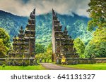 gardian statue at entrance bali ... | Shutterstock . vector #641131327