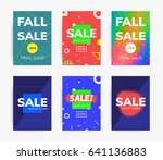 minimal geometric posters set... | Shutterstock .eps vector #641136883