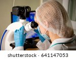 laboratory assistant or... | Shutterstock . vector #641147053