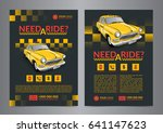 taxi pickup service design... | Shutterstock .eps vector #641147623