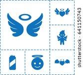 angel icon. set of 6 angel... | Shutterstock .eps vector #641150743