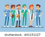 doctor set medical team in... | Shutterstock .eps vector #641151127