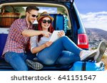 summer day and car trip  | Shutterstock . vector #641151547