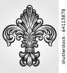 elegant fleur de lis vector | Shutterstock .eps vector #64115878