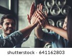 celebrating success. cropped... | Shutterstock . vector #641162803
