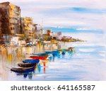 oil painting   harbor view