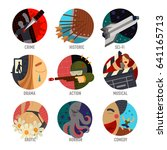 genre cinema set icons... | Shutterstock .eps vector #641165713