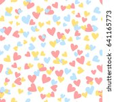 cartoon hearts seamless pattern.... | Shutterstock .eps vector #641165773