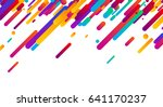 colorful abstract background on ... | Shutterstock .eps vector #641170237
