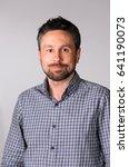 portrait of handsome bearded... | Shutterstock . vector #641190073
