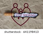 cigarette burning paper with... | Shutterstock . vector #641198413