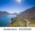hout bay chapmans peak mountain ... | Shutterstock . vector #641209363