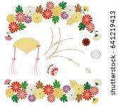 illustration of chrysanthemum ... | Shutterstock .eps vector #641219413