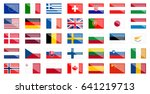 flags of different european and ... | Shutterstock .eps vector #641219713