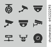 surveillance icons set. set of... | Shutterstock .eps vector #641222293