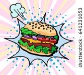 hand drawn hamburger. vector...   Shutterstock .eps vector #641231053