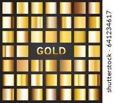 set of gold gradients  vector... | Shutterstock .eps vector #641234617