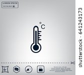 thermometer vector icon | Shutterstock .eps vector #641243173