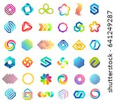 big vector set of logo design.... | Shutterstock .eps vector #641249287