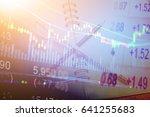 forex market background ... | Shutterstock . vector #641255683