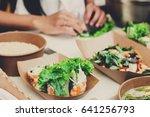street food festival  catering... | Shutterstock . vector #641256793