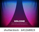 drapery futuristic background...   Shutterstock .eps vector #641268823