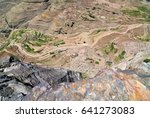 view from above of the... | Shutterstock . vector #641273083