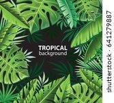tropical leaves   Shutterstock .eps vector #641279887