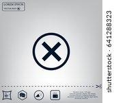 delete icon. cross sign in... | Shutterstock .eps vector #641288323