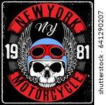 motorcycle helmet typography... | Shutterstock .eps vector #641290207