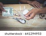 trading drug background | Shutterstock . vector #641294953